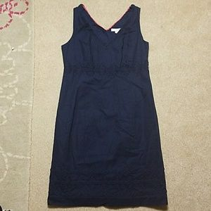 Boden Navy Cotton Detailed Dress